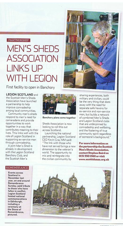Mens Shed-Legion link up